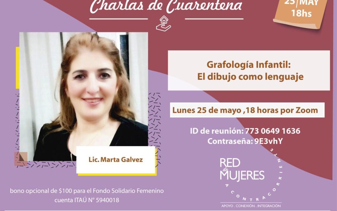 Charla de Cuarentena con la Lic. Martah Gálvez