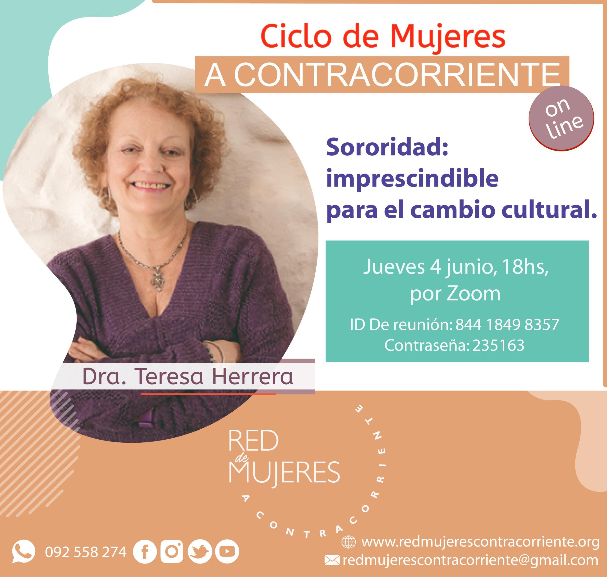 Lee más sobre el artículo Ciclo de Mujeres A Contracorriente con Teresa Herrera